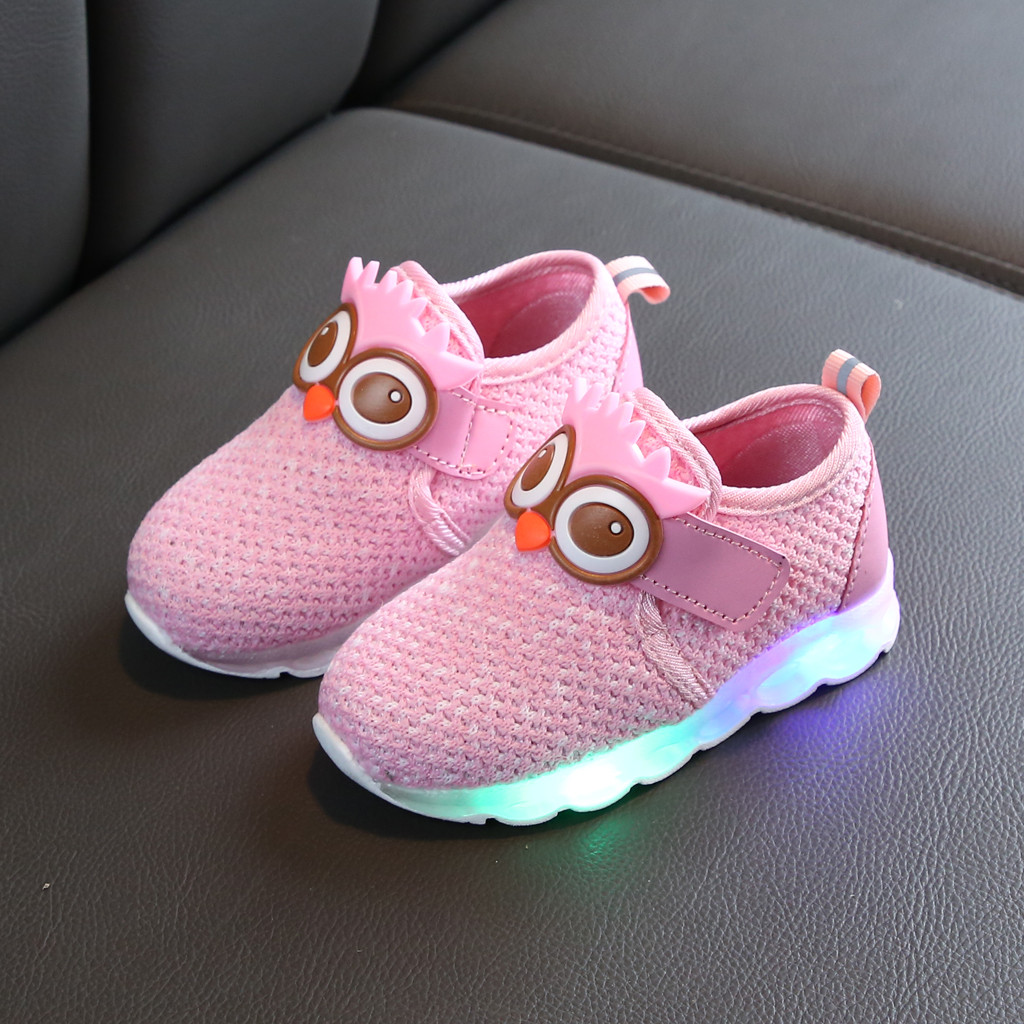 Clothing - Children's Luminous Shoes Infant Toddler Baby Girls Boys Breathable Mesh Cute Cartoon LED Luminous Sport Shoes Sneakers 6M-4Y