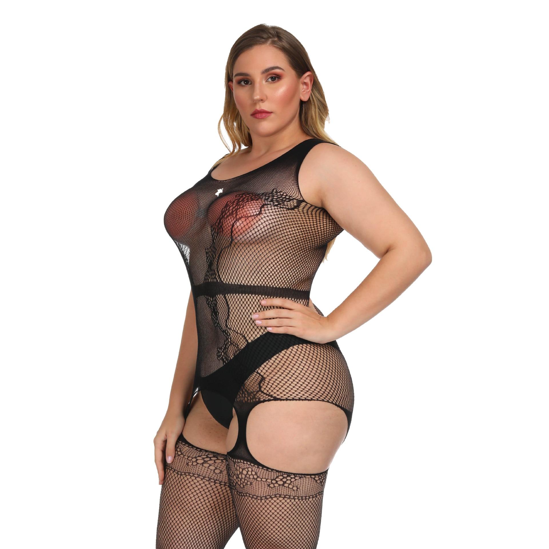 Women Lingerie Jumpsuit Stocking Babydoll Sleepwear Underwear Bodysuit Plus Size