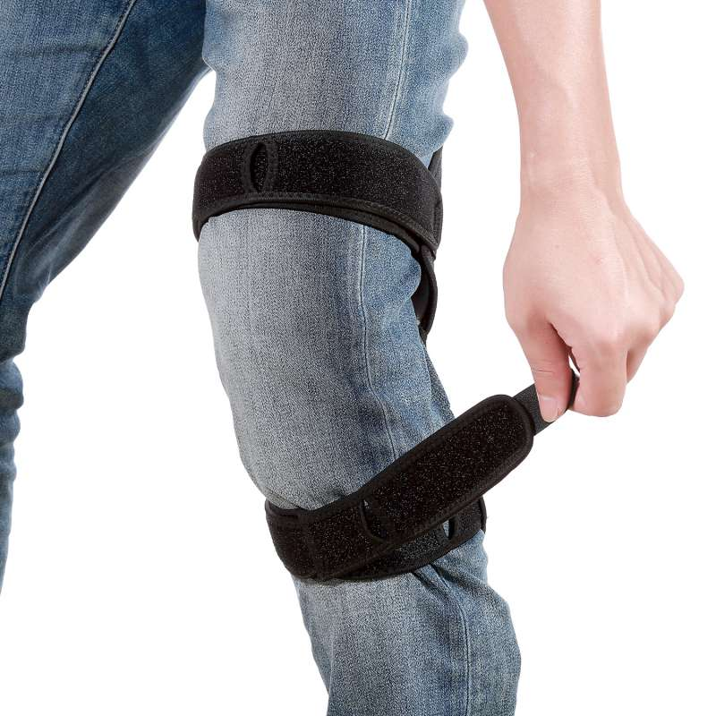 1 Pair Knee Joint Support Pads Breathable Non-slip Power Lift Joint Support Knee Pads Powerful Rebound Spring Force Knee Pads
