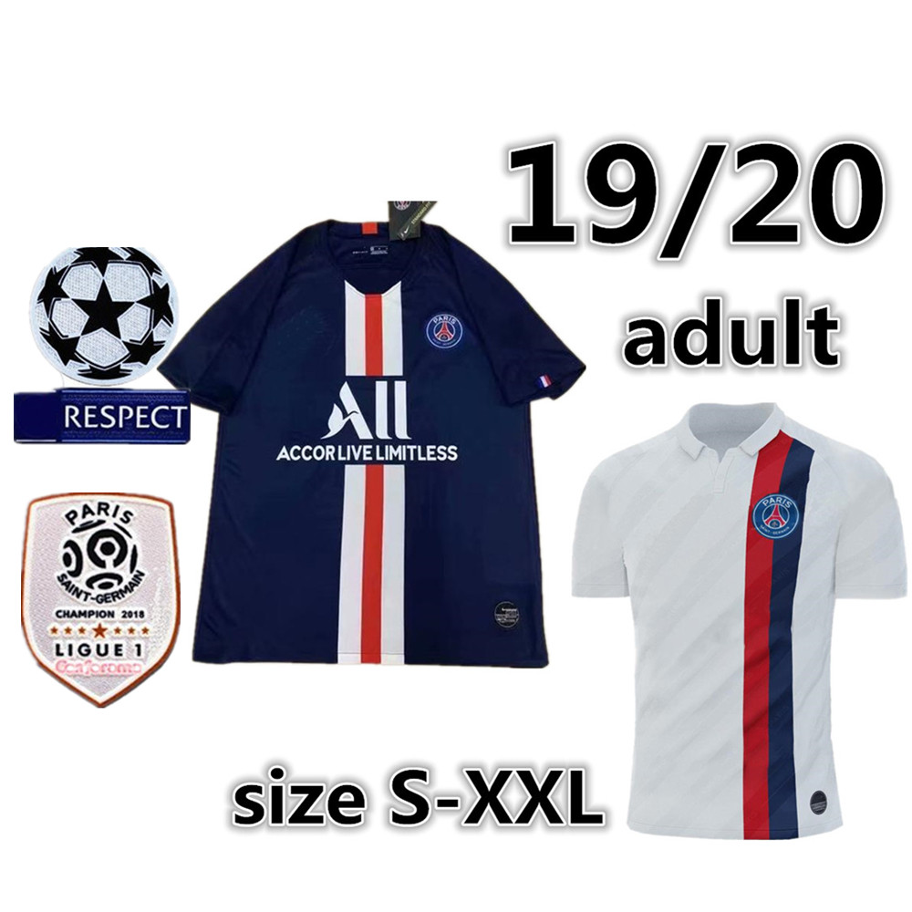 19 20 man PSG maillots MBAPPE soccer jersey CAVANI VERRATTI top thailand 2019 2020 Paried football shirt KIMPEMBE Camiseta shir