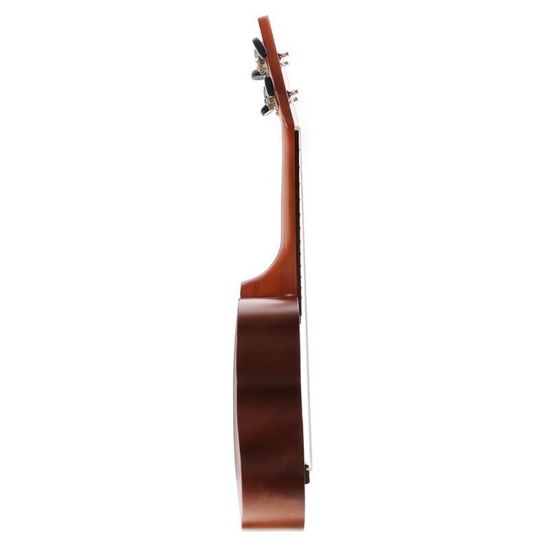 Gaoominy Ukelele Combo Pintado una Mano 21 Ukelele Soprano Negro 4 Cuerdas Uke Bass Instrumento Musical de Cuerda Perfecto para Principiantes