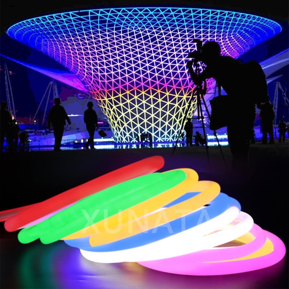 1M DC12V SMD2835 Fita De Led Flexível Impermeável Luzes De Neon Tubo De Silicone Fita
