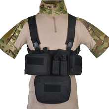 Holster Magazine-Pouch Molle-System Tactical-Vest Military-Pack Chest-Rig Wargame Airsoft