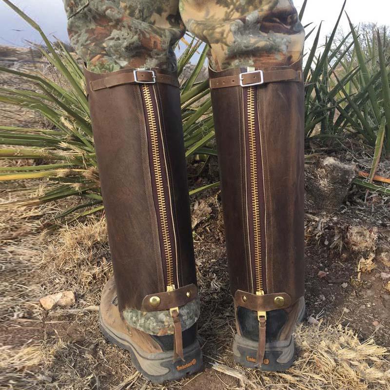 Steampunk Medieval Men PU Leather Knee Length Warrior Hiking Gaiters leggings