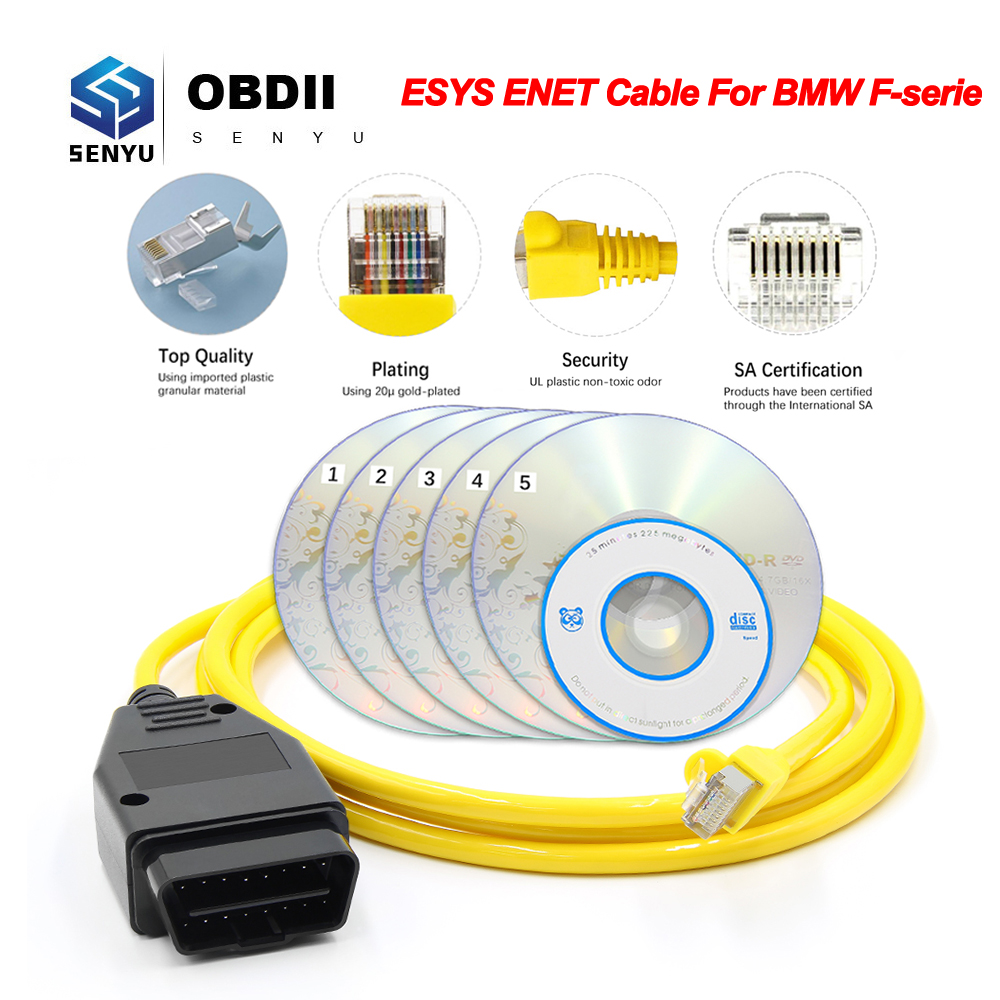 Enet-Cable Obd2 Scanner Coding-Ecu ICOM Data Auto-Tool Programmer-Obd Car-Diagnostic title=