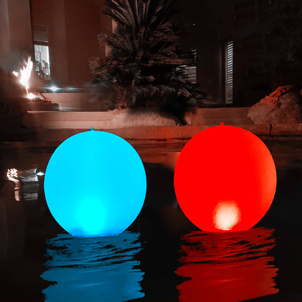 Lighting - Rechargeable LED Swimming Pool Floating Ball Lamp Waterproof Outdoor Home Wedding Garden KTV Bar Holiday Party Decoration