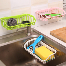 Rack Sink-Shelf Sponge-Holder Suction-Cup Kitchen-Accessories Hanging-Storage Dishwashing