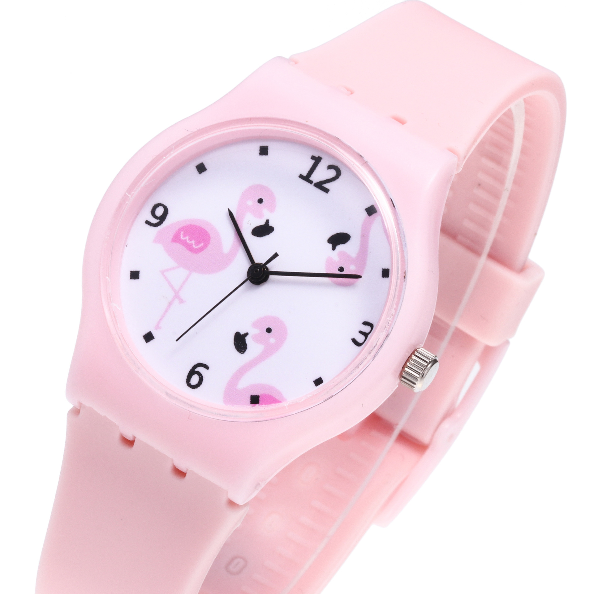 Silicone Watch Clock Gifts Flamingos Girls Boys Children's Cartoon Wrist Quartz Fashion title=