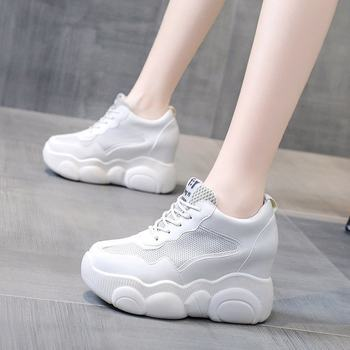 Fashion Sneakers Women Shoes Platform Sneaker Female Mesh Breathable Vulcanized Shoes Brand Running Casual Shoes Woman Summer