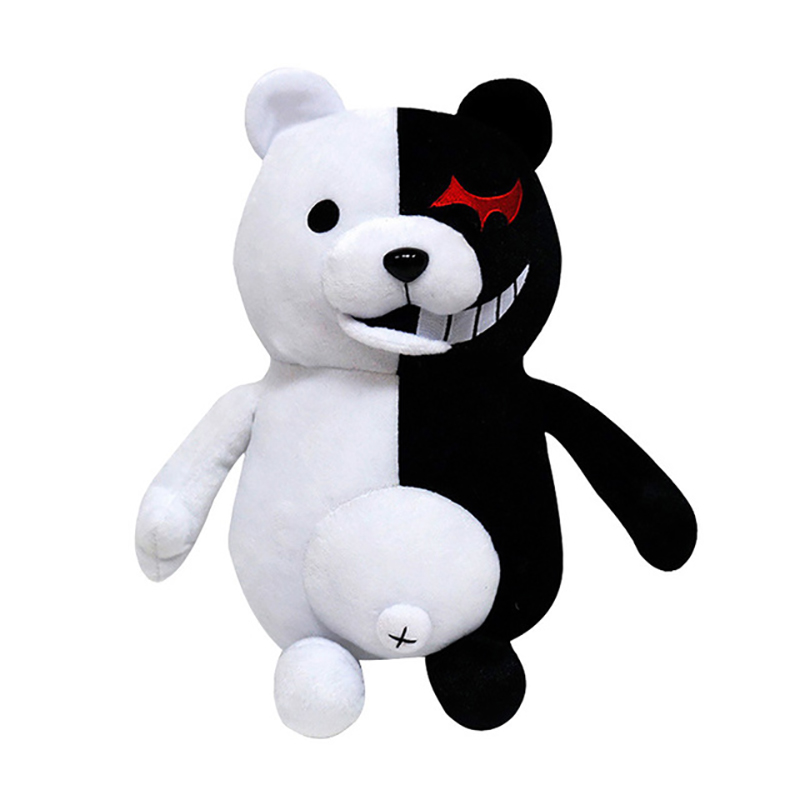1pcs Super Danganronpa Monokuma Black White Bear Plush Toy Stuffed Dangan Ronpa Animal Dolls Birthday Gift for Children Costume