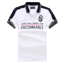 FACONNABLE 2020 Fashion casual Homme Polo short sleeve Men Polo strech cotton breathable sweat absorption big size 3XL