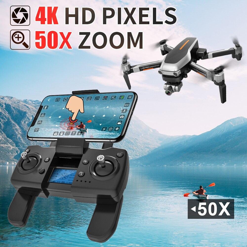 Human - L109PRO GPS Drone 4K Quadcopter HD ESC Camera Brushless 5G WiFi FPV HD ESC Camera Brushless Helicopter Long Flight Time