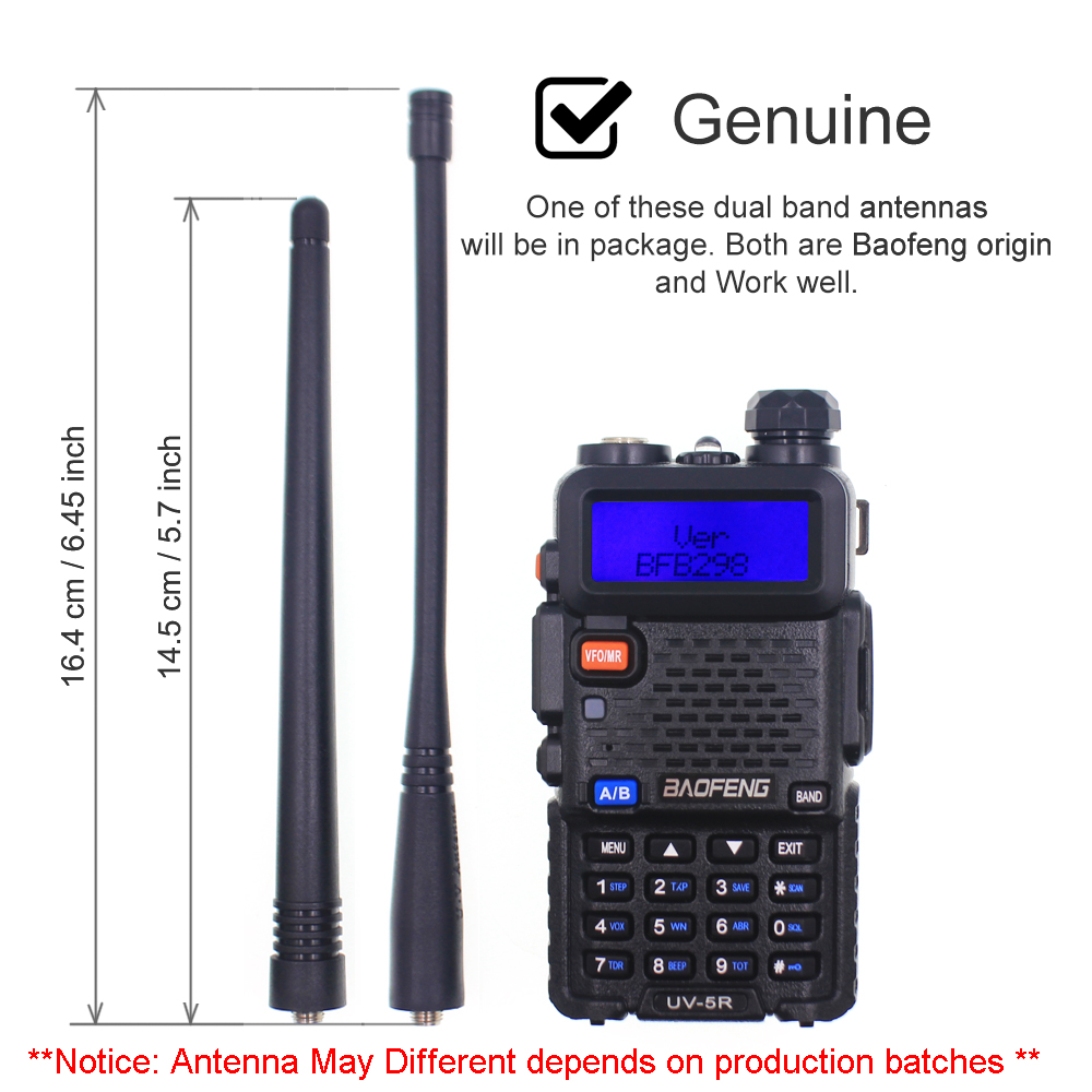 10pcs BaoFeng UV-5R Walkie Talkie Dual Band Two Way Radio VHF UHF 136-174MHz 400-520MHz Ham Radio Communicator Radio Station