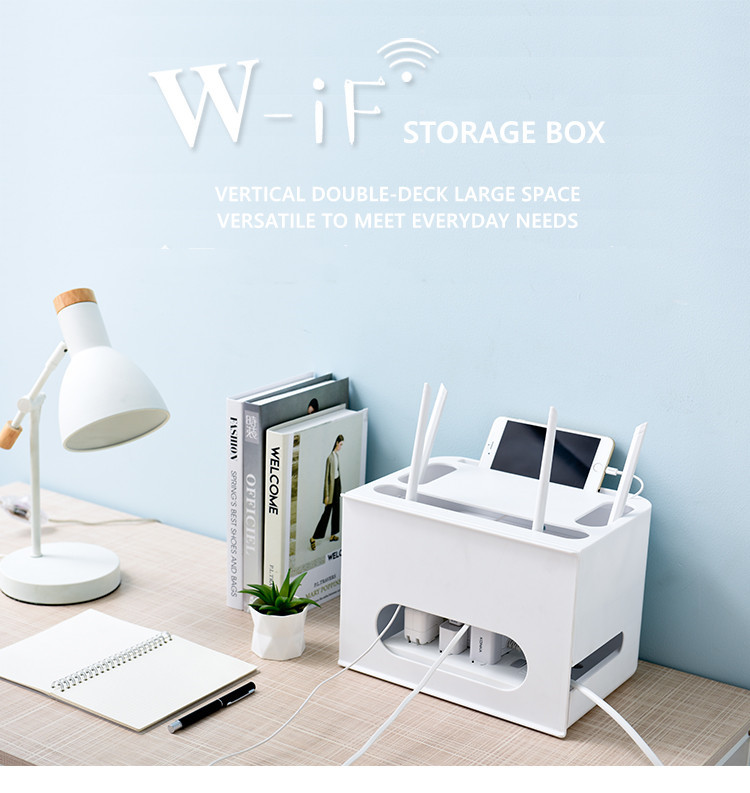 Double Layers Drawer Type WIFI Router Storage Box 61