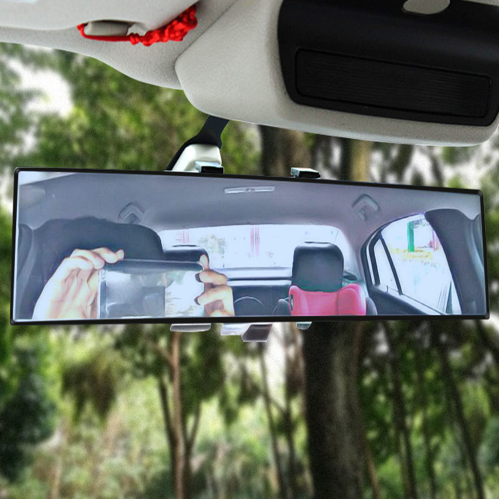 300mm Broadway Convex Curved Car Truck Clip On Rear View Mirror Universal