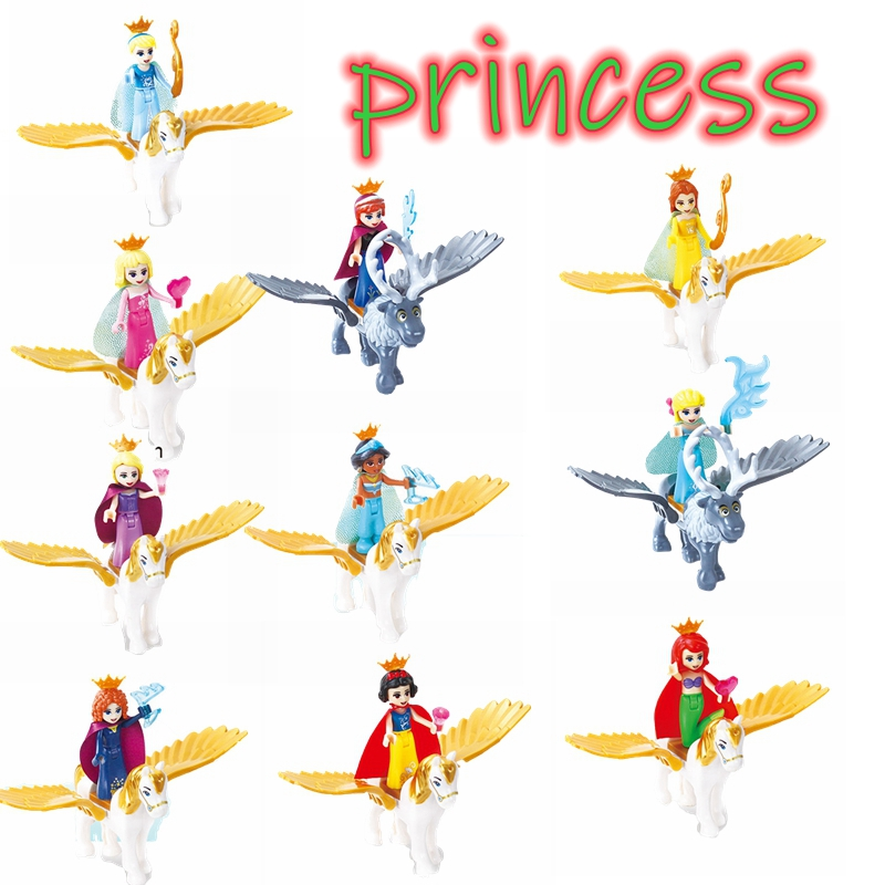 Princess Flying Horse Building & Construction Toy Friends Series Bricks Compatible City Girl Toys Children