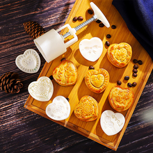 Mooncake Mold Flowers-Stamps Cake-Decor Hand-Diy-Tool 3D 6-Style 50g 100g 125g Barrel