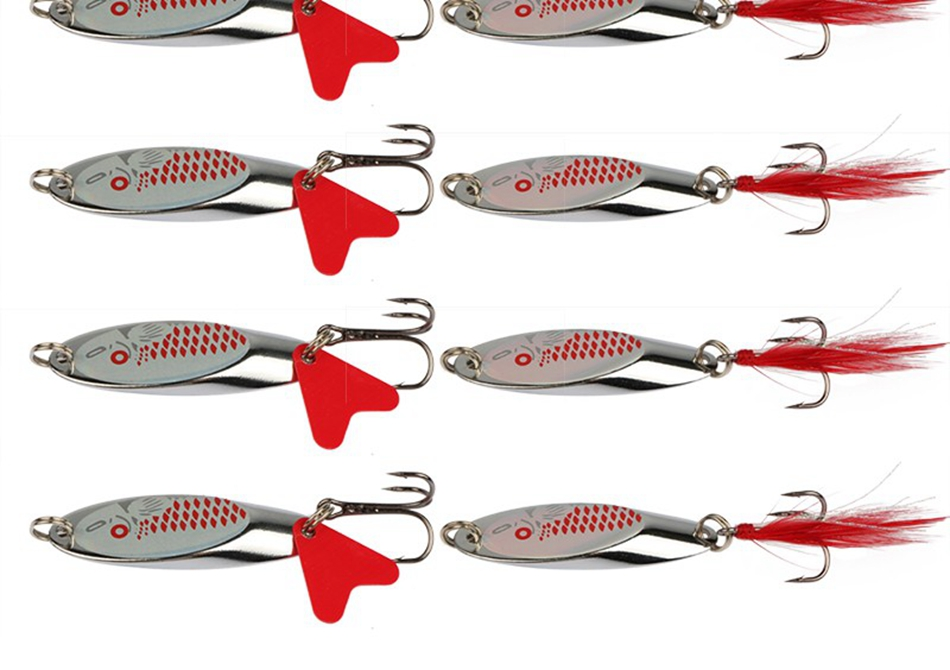 spinner bait fake lure pike wobblers carp fishing tackle (14)