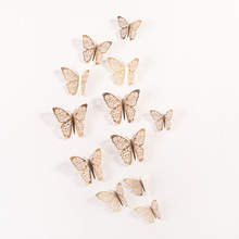 12 Pcs/Set 3D Wall Stickers Hollow Butterfly for Kids Rooms Home Wall Decor DIY Mariposas