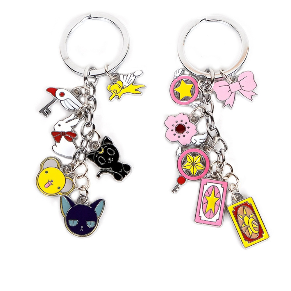 Cartoon Anime Key Chain Card Captor Sakura Charms Handbag Pendant Key Rings