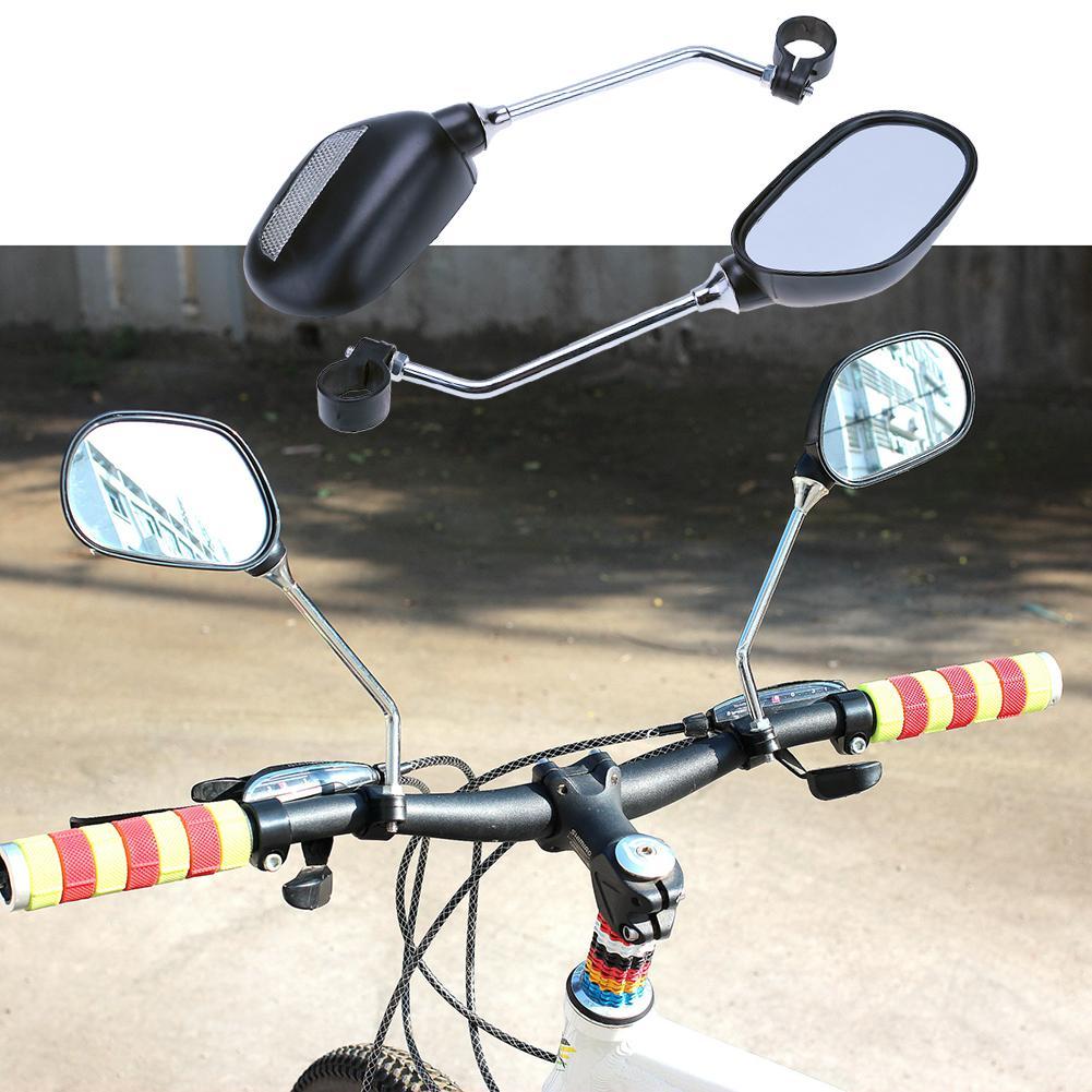 Vélo Miroir 115 mm Gauche Support de guidon noir