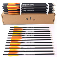 Hunting Crossbow Carbon-Arrow Archery 16/20inch Orange Spine 400 Yellow Used-For