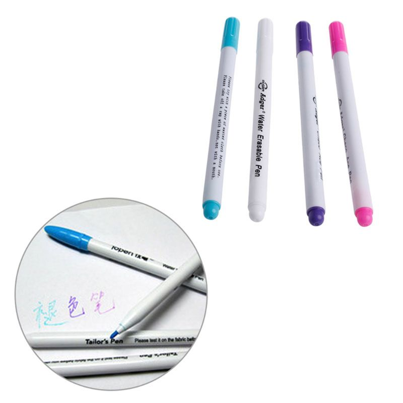 5pcs Vanishing Fabric Markers Water Erasable Pen Water Soluble Pens White