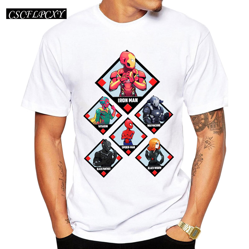 2017-New-Men-Fashion-Captain-America-Civil-War-Heroes-T-shirt-Short-Sleeve-Team-Iron-Man (1)