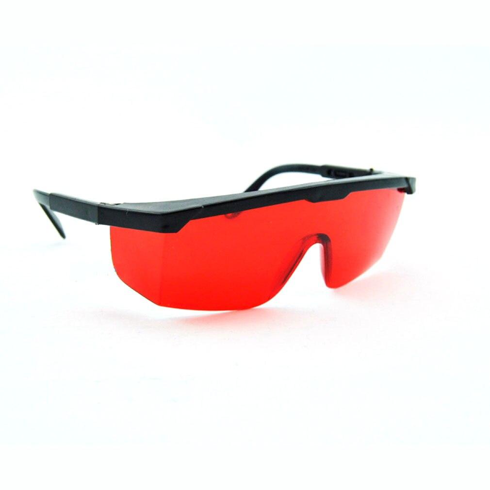 Gafas protectoras rojas Gafas de seguridad 190nm a 540nm Gafas protectoras con caja de terciopelo Forma cuadrada