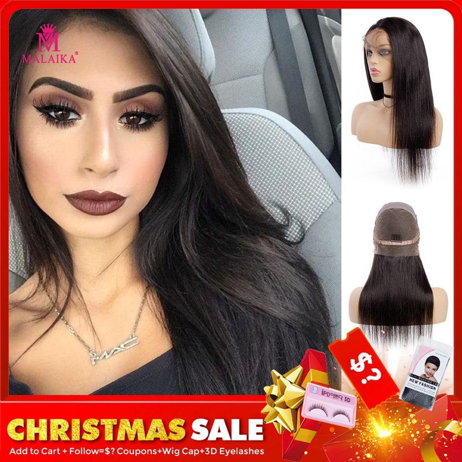 MALAIKA Wigs Hair-Wig Human-Hair Glueless Full-Lace Straight with Baby Brazilian  title=