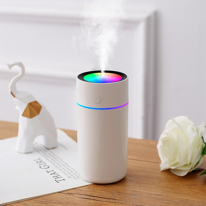 320ml Color Cup USB Air Humidifier Ultrasonic Aroma Diffuser Car Mist Maker with 7 Colors Night Lamps Mini Office Air Purifier