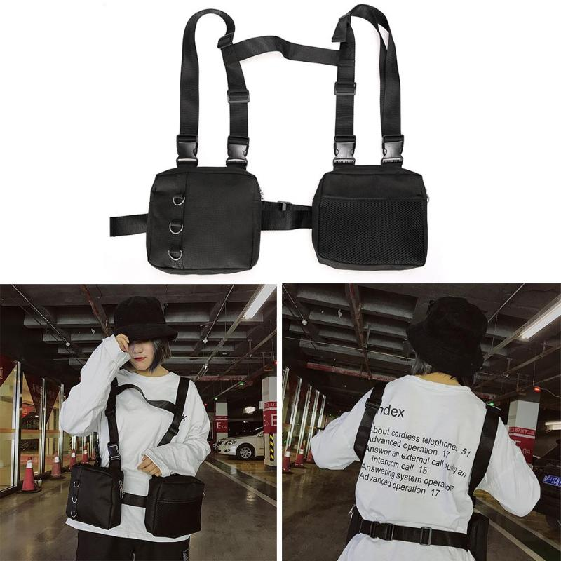 Bag Vest City Streetwear 2-Pockets Jogging-Bags Chest-Waist-Bag Multi-Function Outdoor-Sports title=