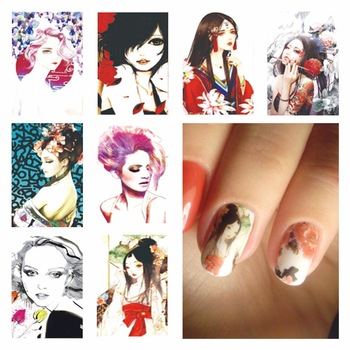 YZWLE 1 Sheet Optional Harajuku Designs DIY Decals Nails Art Water Transfer Printing Stickers For Nails Salon