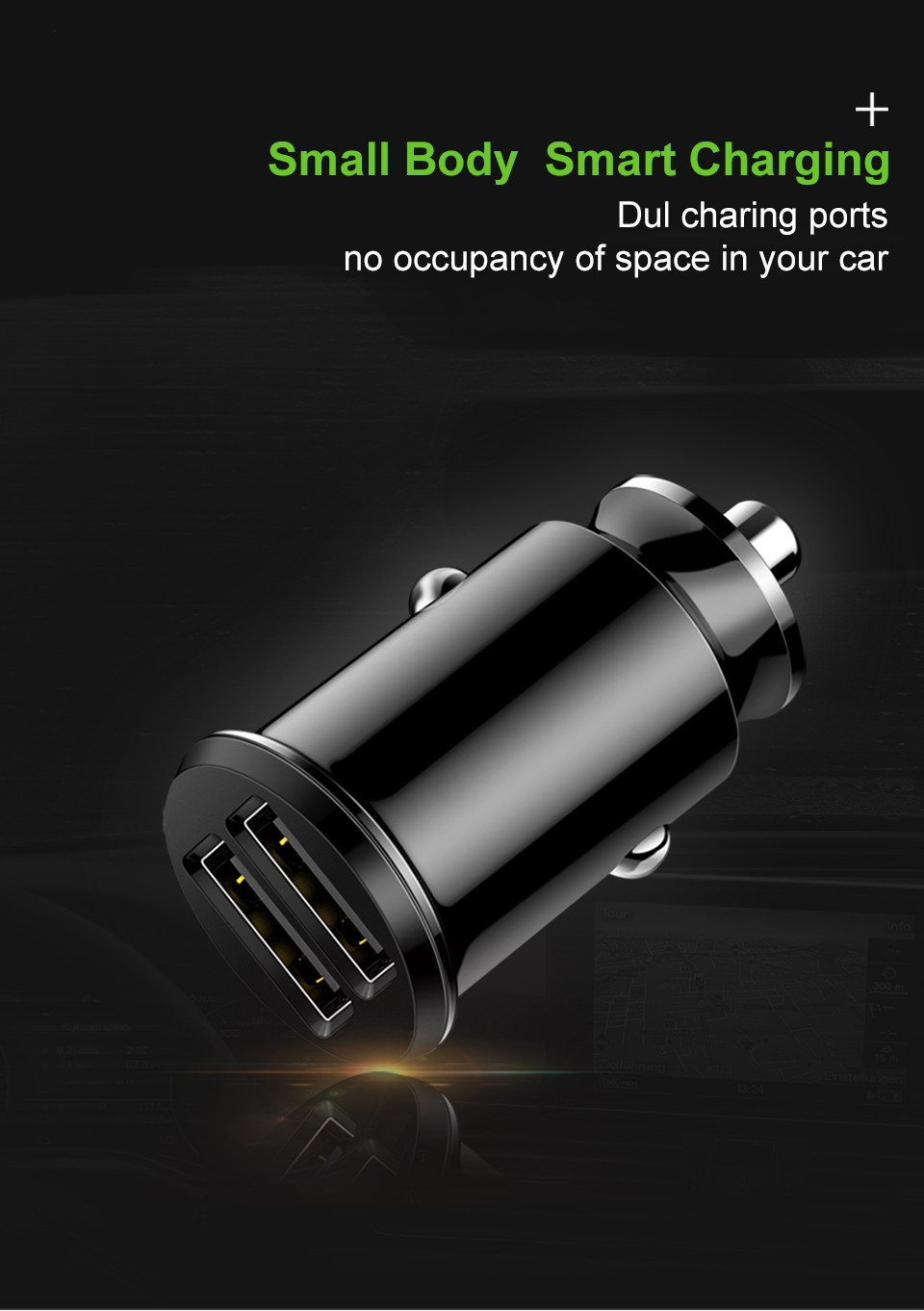 Mini USB Car Charger Adapter 3.1A With LED Universal Dual USB Phone Car-Charger for Samsung iPhone Xiaomi Mobile Phone Chargers (1)