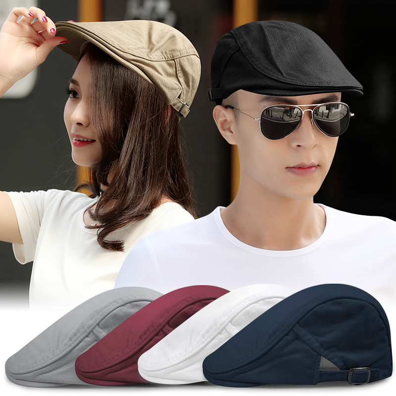 Beret-Hats Painter-Caps Blank Peaked Flat Newsboy-Hat Male Big-Size Casual Man Men 55-59CM title=