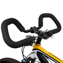 Bike Handlebar Bicycle Bent Bar Aluminum Alloy Integrated Cycling End Butterfly BMX Mountain Bikes Road Rest Riser MTB Riser product image