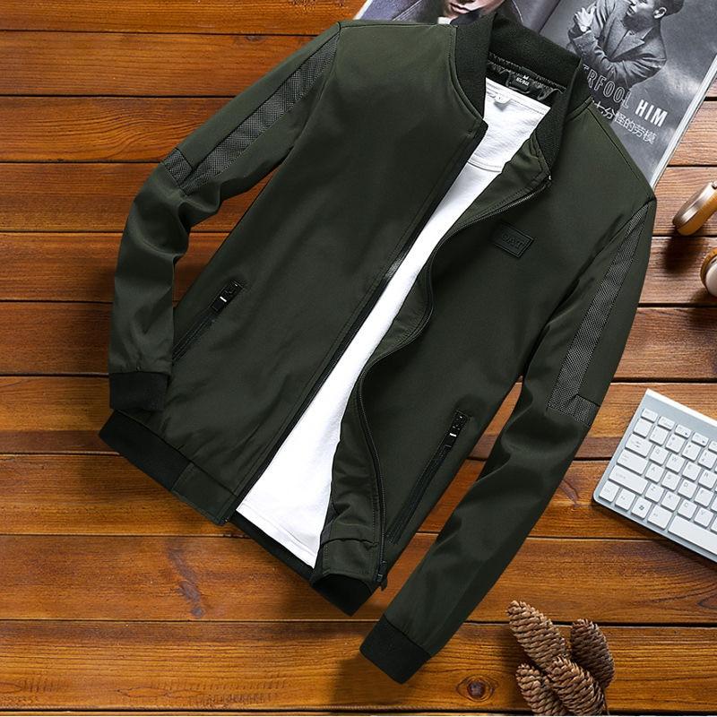 2020 Balplein Plues Size 8XL 7XL 6XL 5XL Men Bomber Jacket Thin Slim Long Sleeve Baseball Jackets New Zipper Jacket  Windbreaker