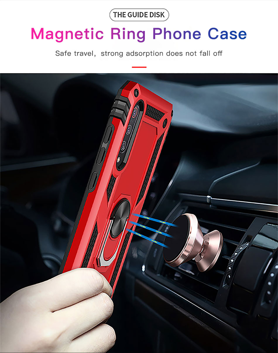 !ACCEZZ Magnetic Ring Phone Case For Xiaomi Redmi Note 7 Protection Back Cover Magnet Phone Holder For Redmi Note 7 Hard Shell (5)