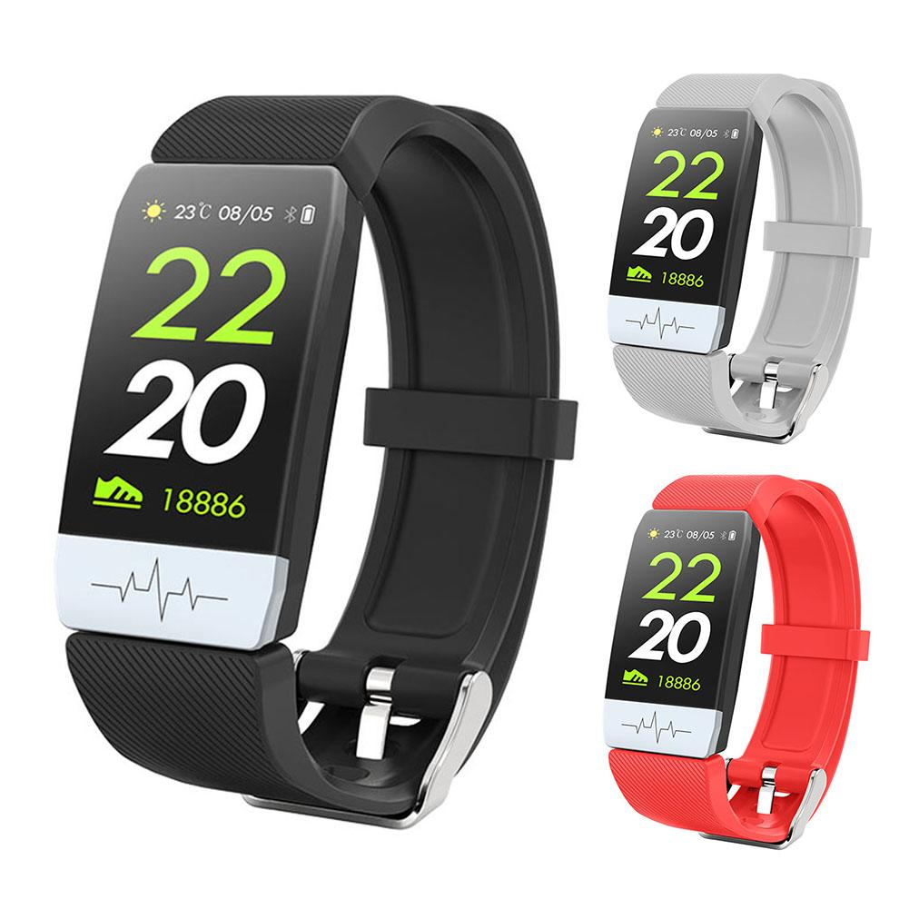 Digital Watch - New Q1S Fitness Tracker ECG PPG Waterproof Heart Rate Monitor Smart Band Weather Forecast Smart Bracelet For IOS Android