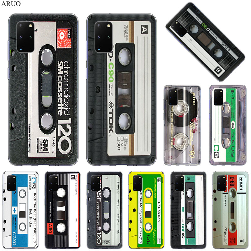 Phone Case For Samsung S20 Ultra S10 Lite S9 S8 Plus Classical Old Cassette Tape Soft cases for Samsung Note 20 10 Pro 9 8 cover