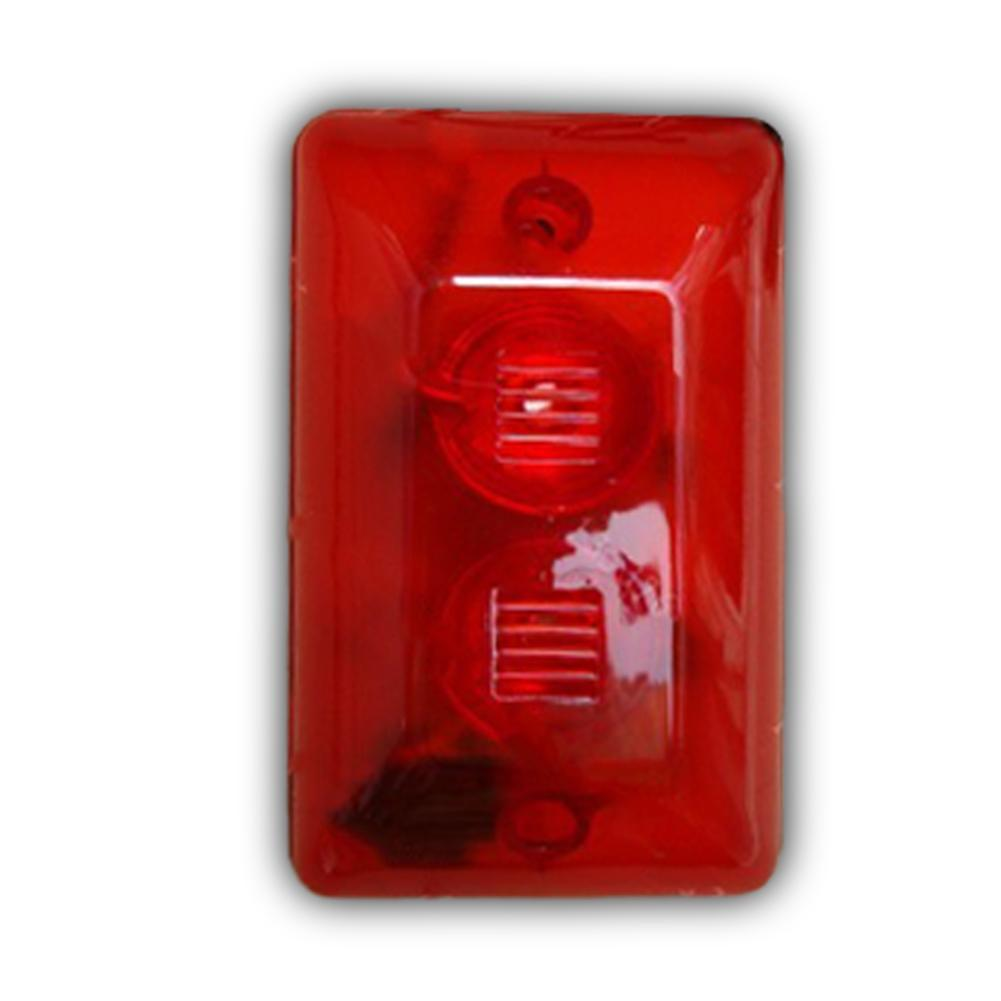 Loud Siren and Strobe Light Red Any System Security Alarm clear lens red bulb
