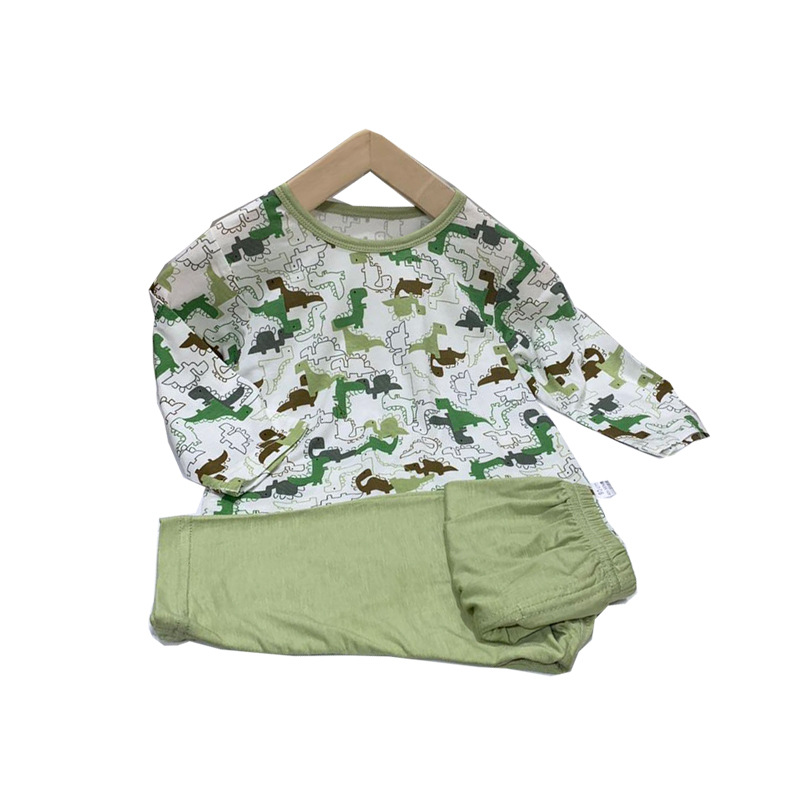 Children/'s clothing summer children/'s air conditioning clothing baby suit thin long sleeve 2-piece suit boys and girls