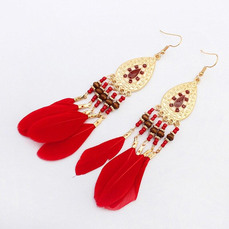 Boucles d'Oreilles Attrape Rêves Femme Rouge bijoux femme tenue unique style chic et bohème turquoise belle or massif style indien amérindienne capteurs de rêves