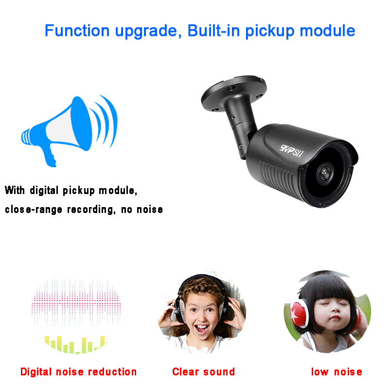 5MP,3MP,2MP Grag Waterproof IP66 Metal 265+ 25Fps Face Detction ONVIF Audio Bullet IP Full- Color Black-light Camera POE function picture audio