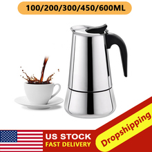 Moka-Pot Coffee-Maker Espresso Barista Stainless-Steel Portable for Pro 300ml/450ml