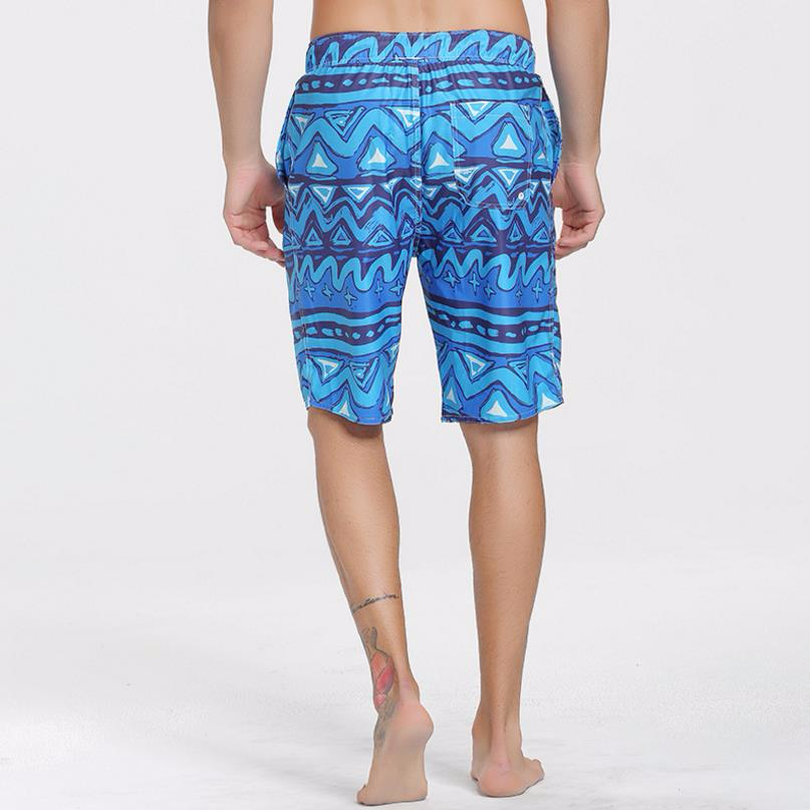Sbart New The Waves Blue Men/'s Shorts Wave Patterns Half Pants Beach Dry Quick Trunks Surfing Swimming  S625