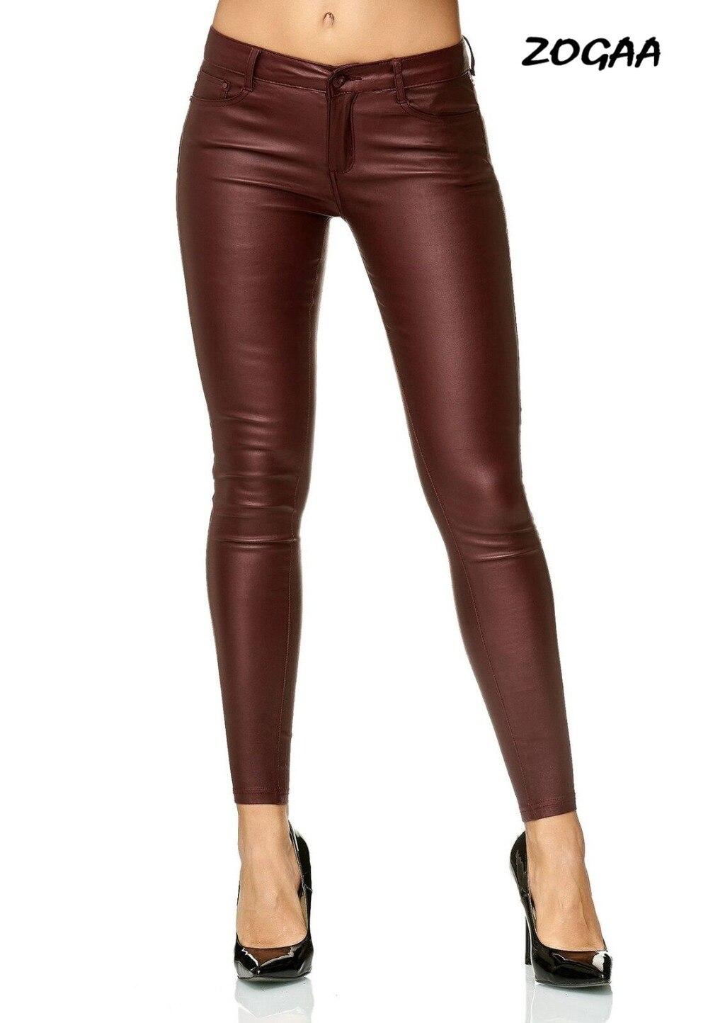 ZOGAA Ladies Leather Pants Motorcycle