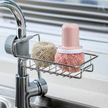 Shelves Faucet Sink Storage-Racks Sponge Bathroom-Soap Stainless-Steel Adjustable Kitchen