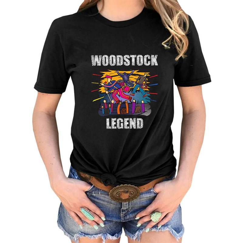 Woodstocks Legend Music Vintage Shirt 50th Anniversary Tees Women Short Sleeve O-neck Tshirt camiseta de las mujeres