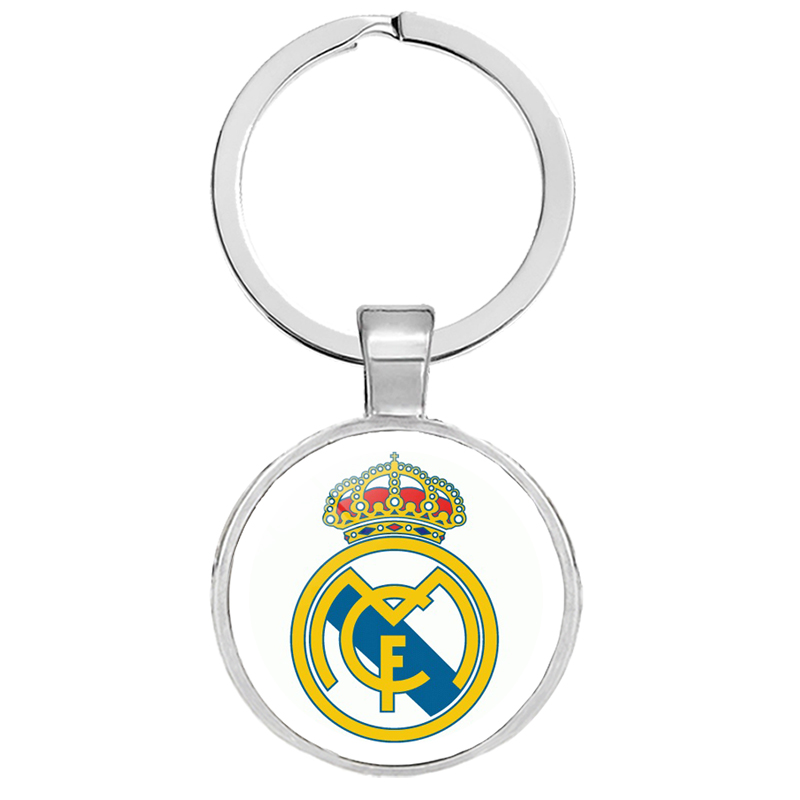 Stainless Steel Handmade Soccer Key Chain with Arsenal  FC Crest Silver Color